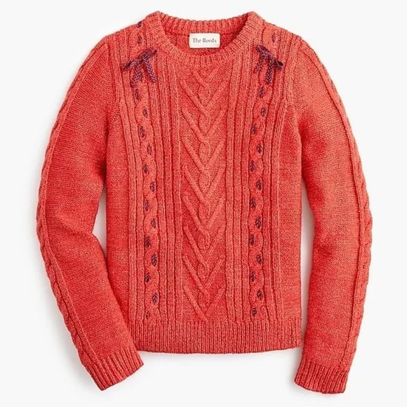 J. Crew The Reeds X J.Crew Cable Knit Sweater